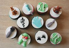 Veterinarian cupcakes / cupcakes de veterinario