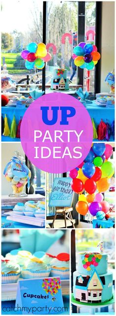 How fun is this colorful boy birthday party based on the movie UP?! See more party ideas at Catchmyparty.com!
