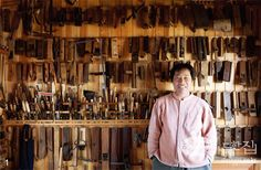 Window Master and his tools Japanese Tools, Japanese Woodworking, Korean Traditional, Tool Storage, Design, House, Style, Japanese Joinery, Swag