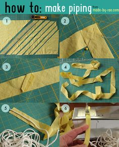 How To: Seem Piping from made-by-rae.com