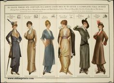 To Have These Six Certain-Occasion Costumes is to Have a Complete Fall Outfit. Flaring Coats and Flaring Tunies, Tight-Fitting Basques and High Standing Collars: These and Many Other Novelties Fashion Decrees This Season