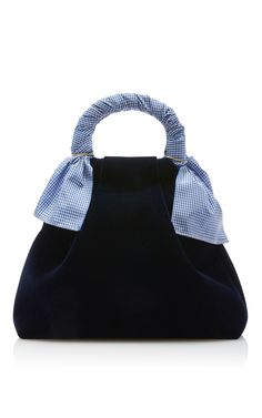 ebcd9d569a Hazel Velvet Shopper by TRADEMARK for Preorder on Moda Operandi Navy Tote  Bags, Navy Blue