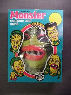 vintage halloween mask black cat ben cooper - Google Search