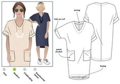 Style Arc Sewing Pattern Adeline Dress by StyleArc