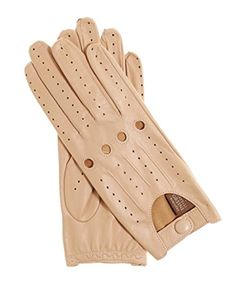 Fratelli Orsini Everyday Women's Open Back Leather Driving Gloves Size 9 Color Apricot -- Awesome products selected by Anna Churchill
