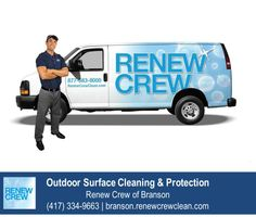 http://branson.renewcrewclean.com – Renew Crew is a nationwide company specializing in outdoor surface cleaning for decks, fences, patios, docks, log homes, wood siding and more. Renew Crew of Branson is your local outdoor surface cleaning and protection expert. We serve Branson. Free estimates.