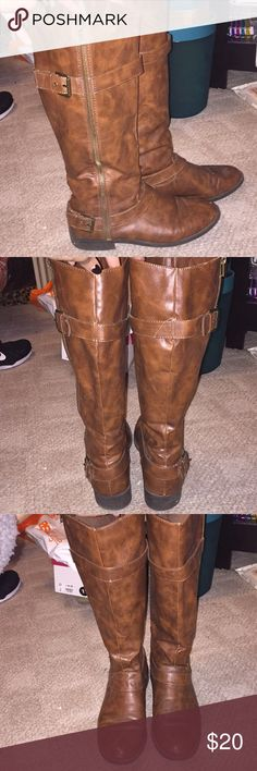 Riding boots Riding boots. A couple of small scuffs (pictured). Not really noticeable. Great condition! Brash Shoes