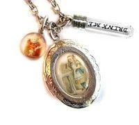 Handmade Jewelry on Etsy - The Original Drink Me Alice In Wonderland Locket Charm Necklace from Hoolala by hoolala