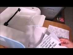 Printing on Deli or Tracing Paper - YouTube