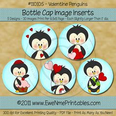 INSTANT DOWNLOAD Printable Bottle Cap Images by ewenmeprintables