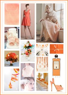 Nectartine & Linen Wedding Colour Theme