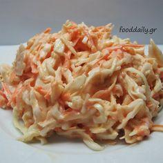 Σαλάτα λάχανο-καρότο-μήλο Macaroni And Cheese, Cabbage, Salads, Meat, Vegetables, Ethnic Recipes, Image Search, Greek, Food