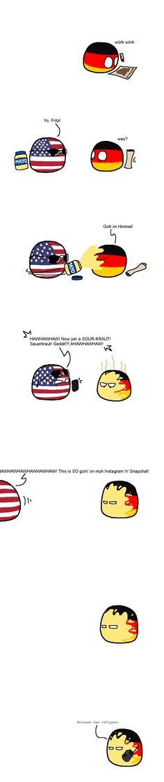 Release das refugees #countryballs #germanball #muricaball