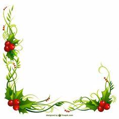 Marco de la Navidad con hojas acebo
