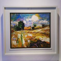 Some beautiful new work just in by Mungo Powney. We love Cornfield #mungopowney #painting #oilpaint #field #sun #glowing