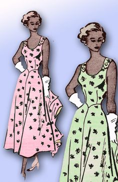 1940s Vintage Mail Order Sewing Pattern 3907 Misses Sun Dress and Jacket Size 12 by vintage4me2 on Etsy