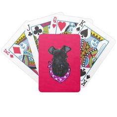 Kerry Blue Terrier Valentine Bicycle Playing Cards - valentines day gifts love couple diy personalize for her for him girlfriend boyfriend