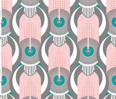 Art Deco Miami fabric by zesti on Spoonflower - custom fabric
