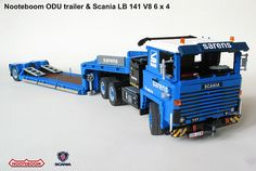 After a couple of weird posts we're back to what we know, with this beautifully built classic Scania LB 141 V8 6x4 truck complete with Nooteboom ODU trailer. Previous bloggee Nanko Klein Paste is t...