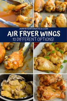 Learn how easy it is to make air fryer chicken wings, in 10 different ways. Each one provides a great crispy wing packed with flavor!