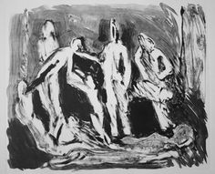 "Saatchi Online Artist Maia S Oprea; Printmaking, ""D.M 5 after ""Siege"""" #art #monotype #body #mortality www.maiaoprea.ro"