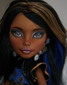 """Robecca Steam""  a Monster High doll repaint #Dolls"