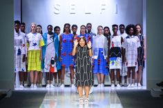 "Fashion designer Celeste Arendse created Selfi, in focusing on ""thought-provoking attire that has dreamlike qualities, yet is classic""."