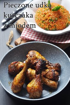 Udka kurczaka pieczone w marynacie z miodem Chicken Wings, Curry, Recipes, Healthy Recipes, Easy Meals, Curries, Ripped Recipes, Cooking Recipes