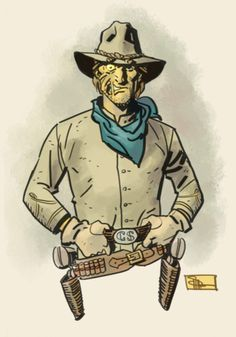 Jonah Hex, my other favorite DC Western character, also by Doc Shaner.