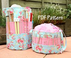 Ultimate Knitters Crochet Tote PDF Pattern - PDF Sewing Pattern + 8 More Quilted Bags to Sew