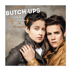 Cameron Esposito & Rhea Butcher: Butch-Ups 2016 Calendar Cameron Esposito, Butches, Tomboy Fashion, Androgynous, Newlyweds, Lgbt, Pop Culture, Beautiful People, Portrait