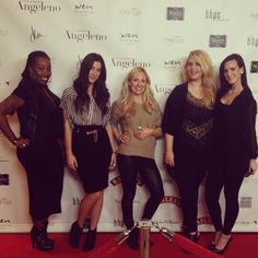 The Blink Bar team on the red carpet for Angeleno Magazine #redcarpetready #beauty #lashes #eyes #hollywood #glam