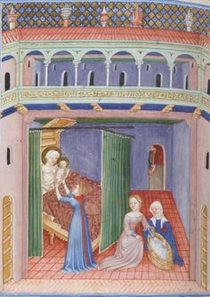 Lovely red hood with (daggered?) liripipe. Missale et horae ad usum Fratrum Minorum. 1301-1400  http://gallica.bnf.fr/ark:/12148/btv1b8470209d/f706.zoom