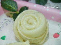 浪漫花香玫瑰花造型饅頭