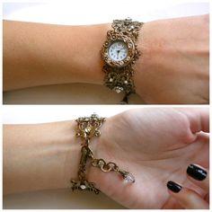 Brass Wome's n Wrist Watch Vintage Inspired by LeBoudoirNoir