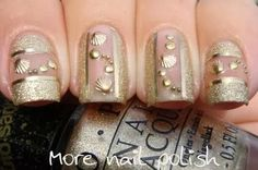 sea shell nail art!! #Nailart #nude #nails #polish - bellashoot.com
