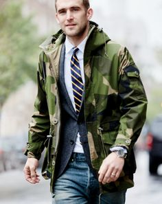 J.Crew In Good Company: Arkair®. These water-resistant jackets are made in England for its Special Forces units, which means they can definitely handle your daily fight to get to work.