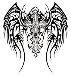 christian tattoos for women | Tribal Cross Tattoos : Awesome Tribal Cross Tattoos Design