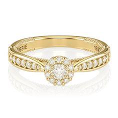 O Anel de Noivado Uni Princess II possui um gracioso design, que incorpora o eterno voto de amor de um casal. Este delicado anel de noivado possui um aro