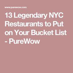 13 Legendary NYC Restaurants to Put on Your Bucket List - PureWow