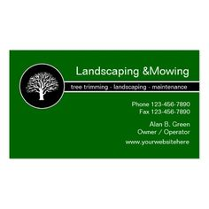 Landscaping Service Business Cards Tree Trimmer
