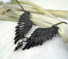 Thieving Magpie -- Handmade Necklace in a Choice of Bronze or Silver