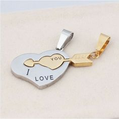 Heart And Arrow Romantic Lover's Necklace(Price For A Pair) - USD $24.95