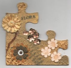 Wendy's Art and Craft Journal: Altered jigsaw pieces