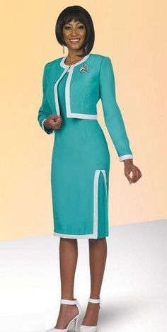 Ben Marc Executive is a two piece jacket dress that features a short 16 inch jacket and a 42 inch dress.