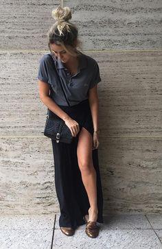 Street style look com camisa polo. Blusa Polo Feminina 3f4aa324bda4b