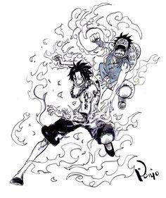 One Piece, ASL, Ace, Luffy