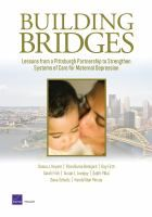 Building bridges: lessons from a Pittsburgh partnership to strengthen systems of care for maternal de-pression by Donna J. Keyser, et al.