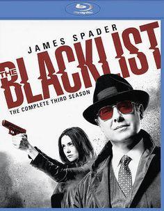 The Blacklist Season 3 Blu Ray 5 Discs Set 2016 James Spader NR  043396476288…