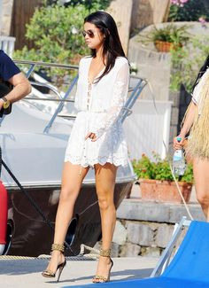 Selena departing from Ischia, Italy on July 20